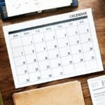 This is a calendar used for Dr. Kappler's consultations